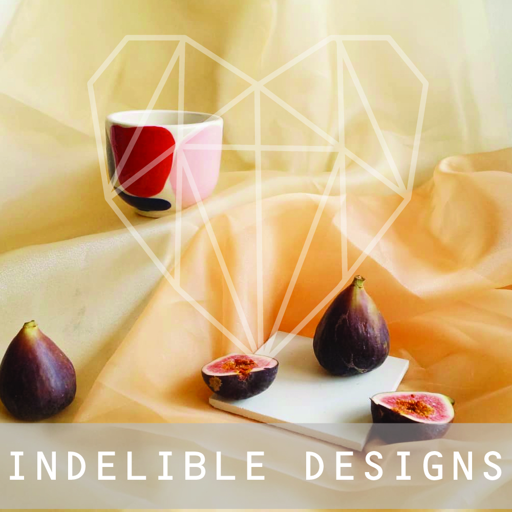 Indelible means to make marks that cannot be removed or erased. Something that is not able to be forgotten. Indelible Designs focus on creating functional ceramic pieces that have a memory conceptually endowed upon them by the artist Kirby Sens.